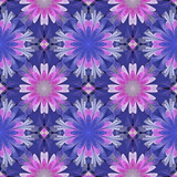 Multicolored floral pattern in stained-glass window style. You can use it for invitations, notebook covers, phone cases, postcards, cards, wallpapers. Artwork for creative design. - 222918211