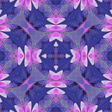 Multicolored floral pattern in stained-glass window style. You can use it for invitations, notebook covers, phone cases, postcards, cards, wallpapers. Artwork for creative design. - 222918864
