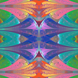 Multicolored abstract pattern in stained glass window style. You can use it for invitations, notebook covers, phone cases, postcards, cards, wallpapers and so on. Artwork for creative design. - 222919492