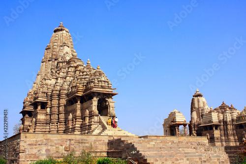 Foto Murales Ancient temple, Western Temples in Khajuraho, India