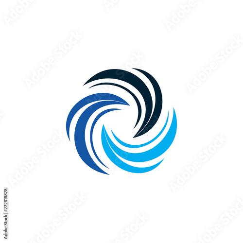 blue swirl logo