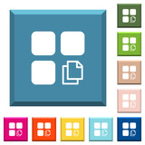 Copy component white icons on edged square buttons - 222922083