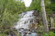 waterfall in forest - 222925650