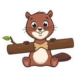 Cartoon Cute Beaver