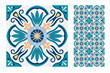 tiles Portuguese patterns antique seamless design in Vector illustration vintage - 222930016