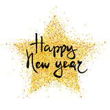 Happy New Year / Vector illustration, holiday background with a metallic confetti. - 222930238