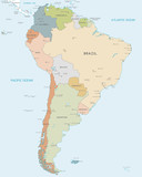 Vector map of South America - 222932618