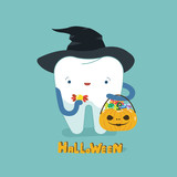 Halloween day of dental, tooth fantacy concept. - 222932883