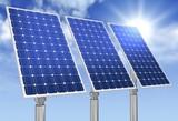 solar panel concept 3d illustration - 222934493