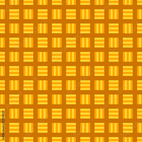 Fototapeta Orange abstract seamless square pattern background - vector graphic
