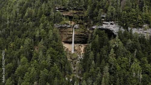 Aerial view of waterfall Pericnik in national park Triglav - Slovenia