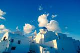 The village of Oia in Santorini, Greece. Toned photo of architecture - 222947226