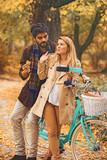 Couple enjoying fall - 222948419