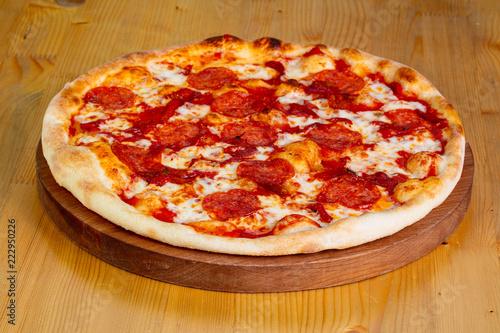 Fototapeta Pepperoni Hot pizza