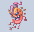 little funny devil. Cartoon illustration for print and web. Character in the modern graphic style.