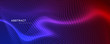 abstract coloful particles banner design