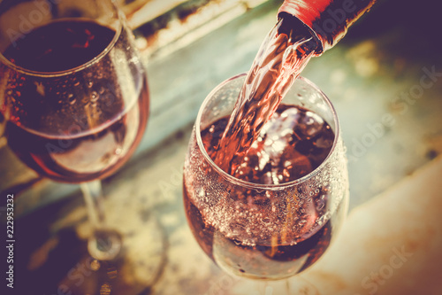 Wine Tasting, Restaurant, St. Valentine's Day, close up - 222953232