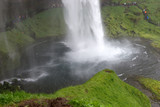 Seljalandsfoss waterfall. Amazing Tourist attraction of Iceland