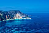 beautiful lonely bay on Kefalonia Greece