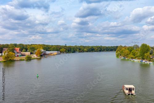 Leinwanddruck Bild Berlin Spree-River near Treptow