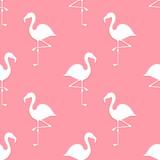 Pink flamingo seamless pattern