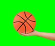 Leinwandbild Motiv showing basketball ball