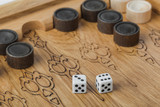 Backgammon playing field and dices - 222979052