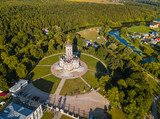 Church of Our Lady of the Sign (Znamenskaya church) in Dubrovitsy - Moscow region Russia - aerial view - 222979072