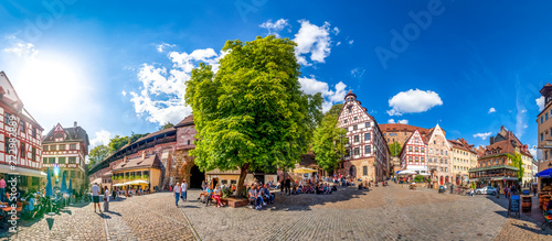Nürnberg, Beim Tiergärtnertor, Panorama, Dürer Haus