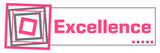 Excellence Pink Grey Borders Horizontal  - 222983205