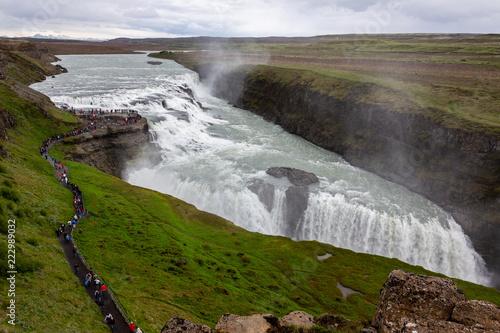 Fototapeta Gullfoss, an iconic waterfall of Iceland..