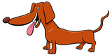 dachshund dog cartoon animal character