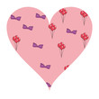 Bow and balloons heart shape - 223000001