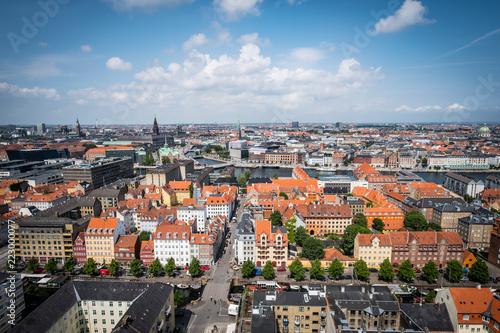 Copenhagen Denmark from above