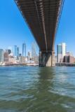 Skyscrapers and Brooklyn Bridge, Manhattan, NYC - 223001061