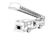 sketch of fire engine vector