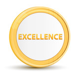 Excellence gold round button - 223003250