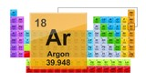 Periodic Table 18 Argon  Element Sign With Position, Atomic Number And Weight. - 223004466