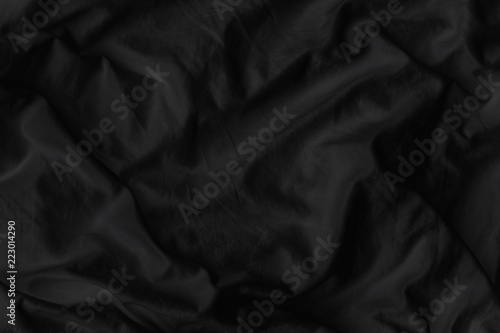 Black fabric texture for luxury cloth abstract background - 223014290