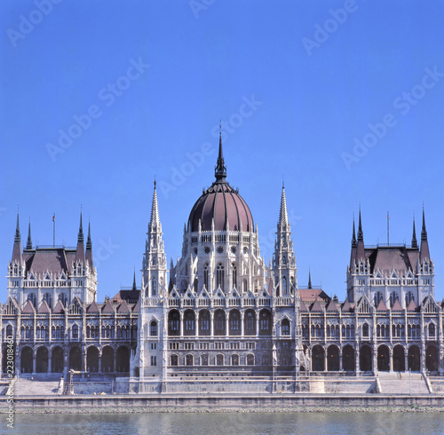 Foto Murales The building of the Hungarian Parliament in Budapest