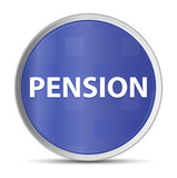 Pension blue round button - 223020633