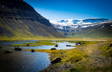 Icelandic landscape with snow mountains - 223027206
