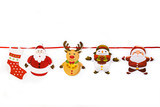 Christmas ornament hanging on white background. Copyspace   - 223033252