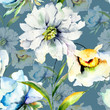 Seamless pattern with summer flowers - 223035663