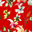 Seamless wallpaper with Original flowers - 223036059