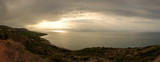 A sunrise in Oropesa in panoramic format