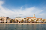 Split city with the Riva Promenade and the Diocletian Palace, waterfront view, in Croatia - 223046095