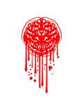 stempel tropfen graffiti nass gehirn blutig horror halloween denken intelligent ekelig comic cartoon clipart cool des - 223048602