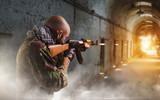 Terrorist shoots from rifle, explosion in corridor - 223052026