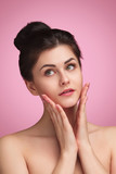 Tender brunette with clear skin - 223057409